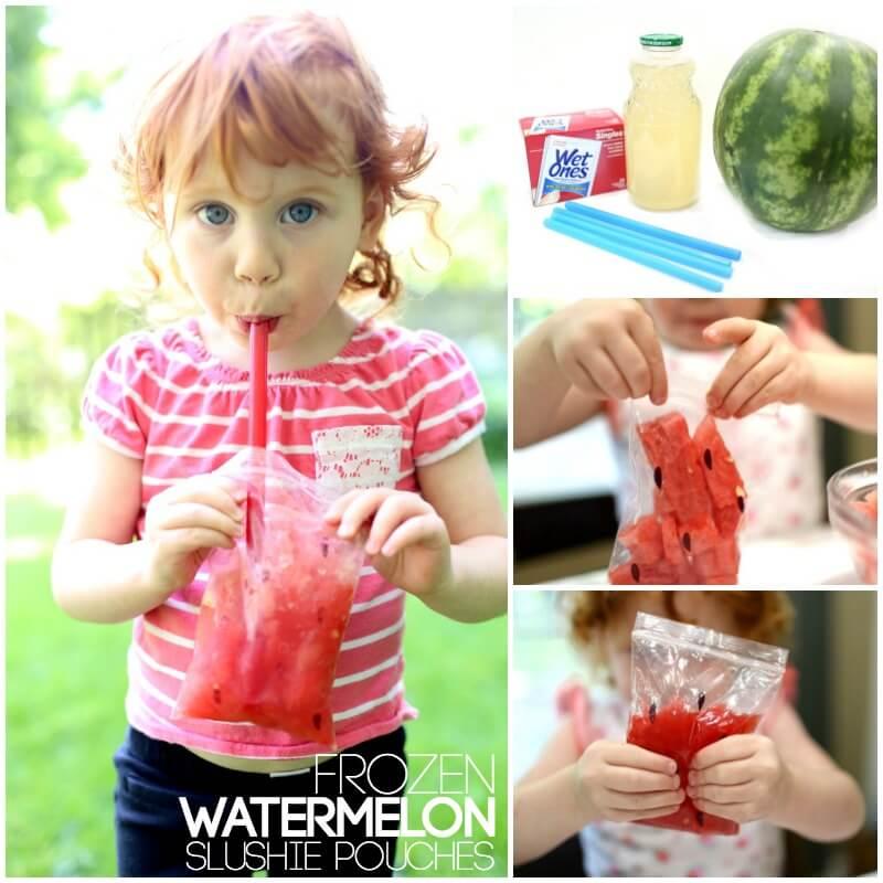 Frozen Watermelon Slushies for Sensory Treats