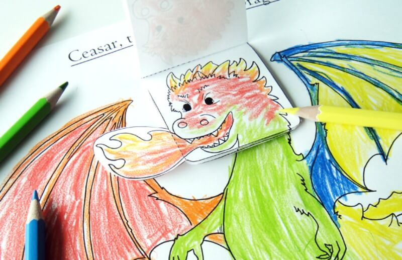 Ceasar, the Emotional Dragon – Simple Emotions Activity for Kids