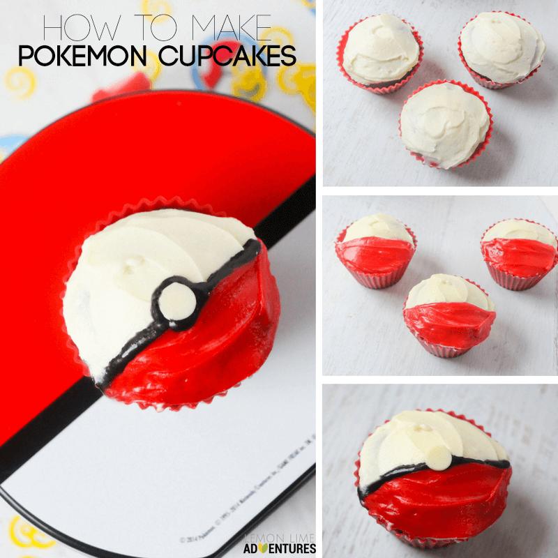 simple pokemon cupcakes