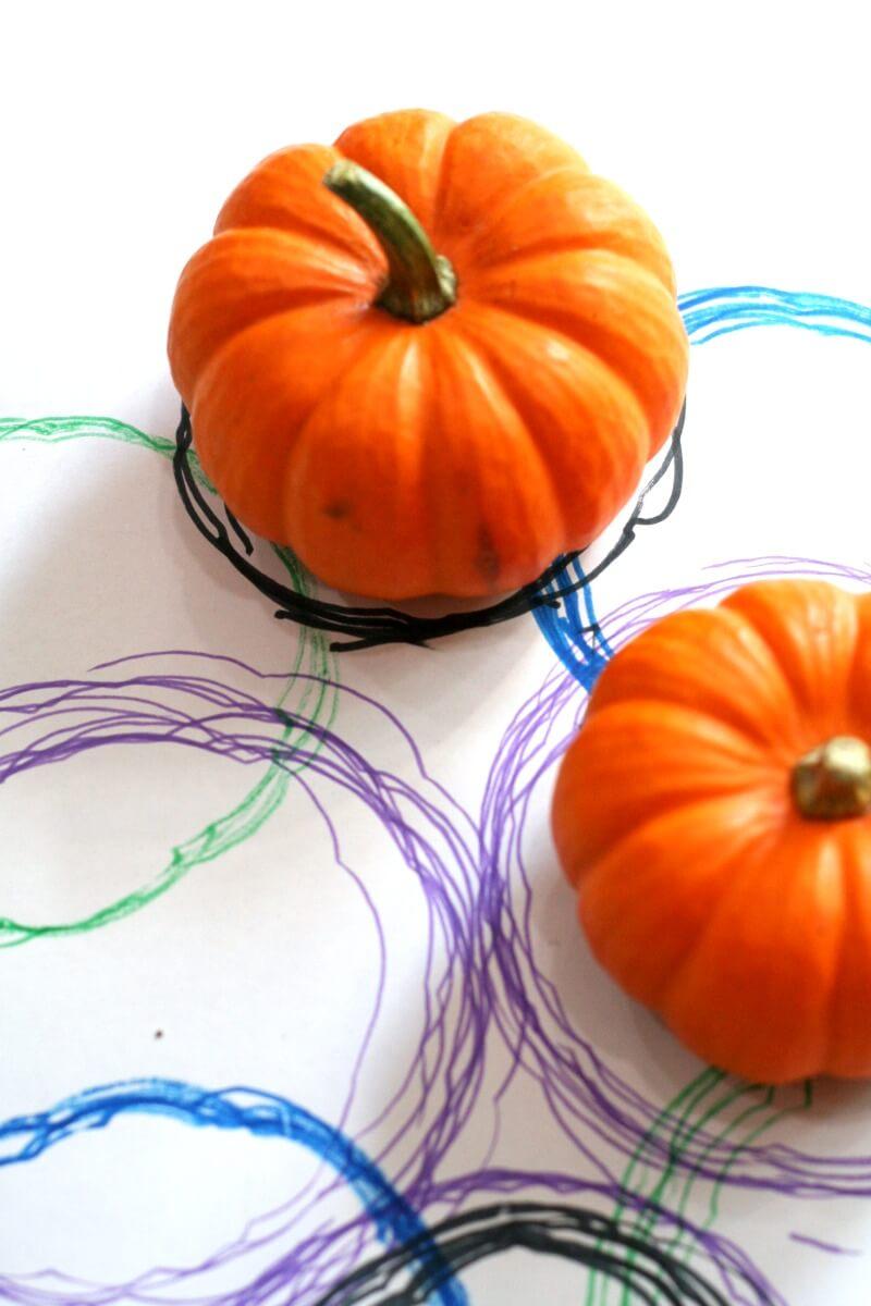 Toddler Pumpkin Tracing