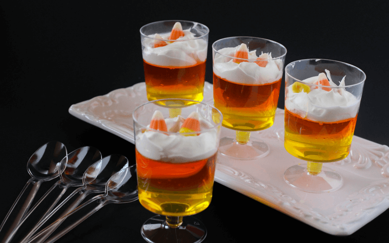 Super Tasty Candy Corn Jello Parfaits