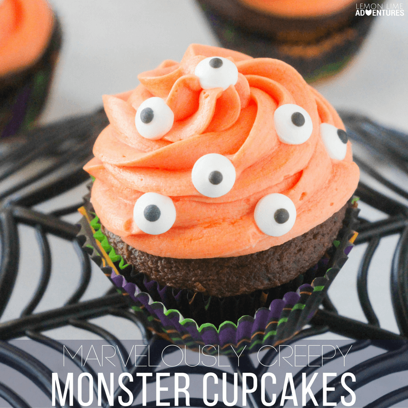 Marvelously Creepy Monster Cupcakes for Halloween!