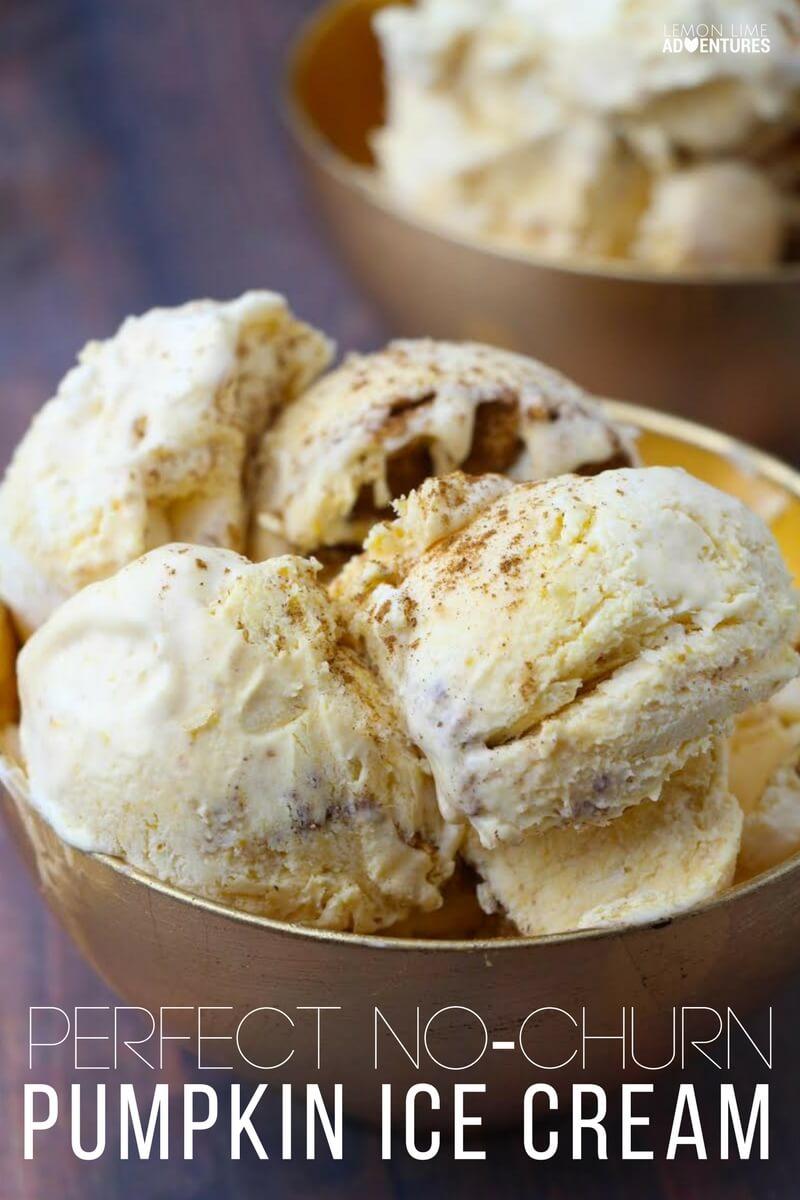 Perfect No-Churn Pumpkin Ice Cream!