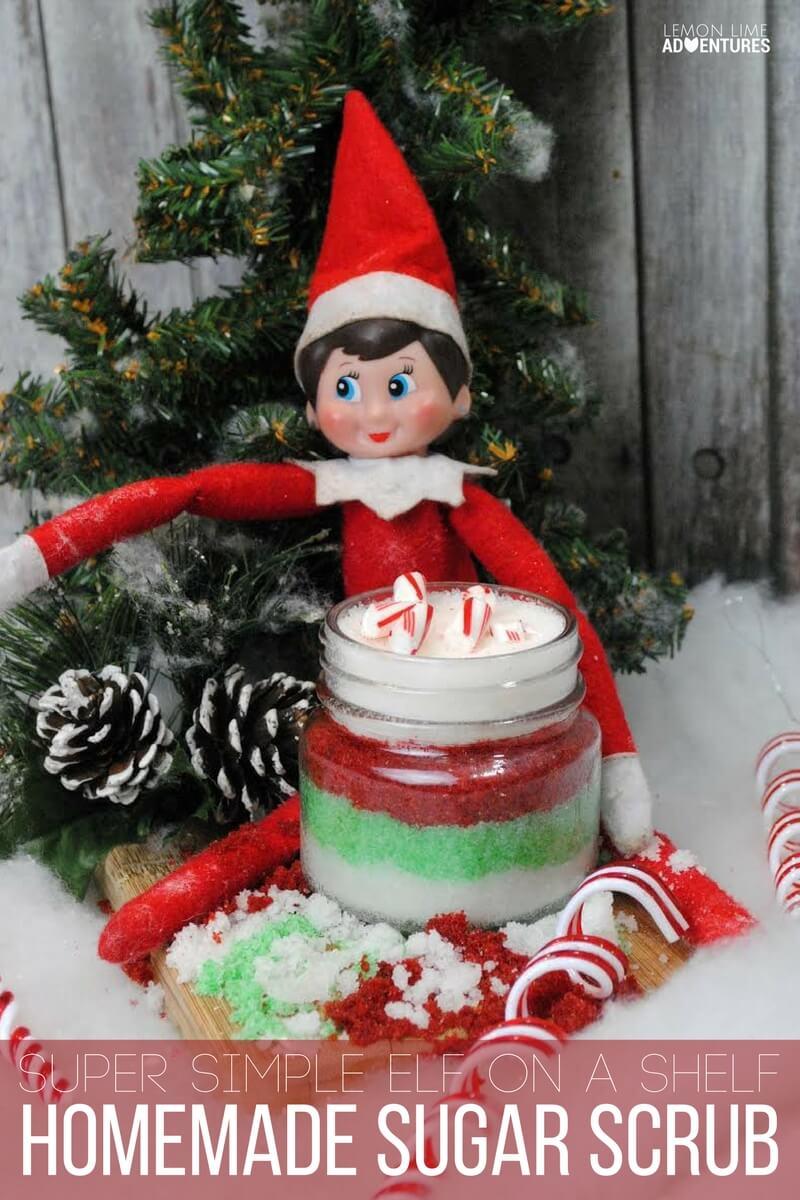 Super Simple Elf on a Shelf Homemade Sugar Scrub
