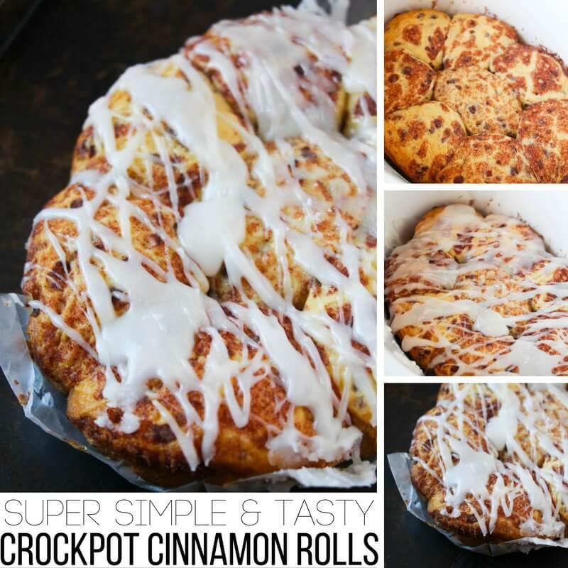 Super Simple & Tasty Crockpot Cinnamon Rolls!