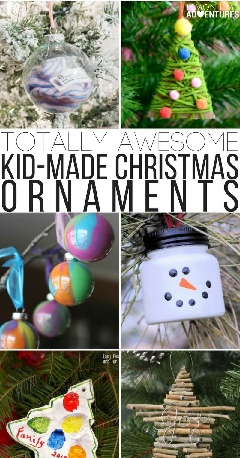 Totally Awesome Kid-Made Christmas Ornaments