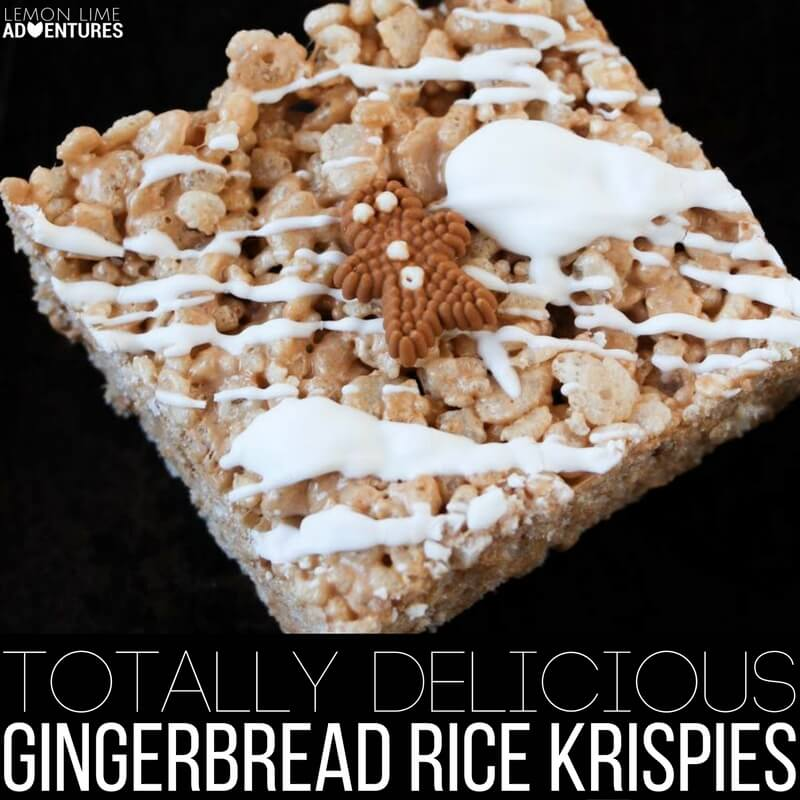 Totally Delicious Gingerbread Rice Krispies!