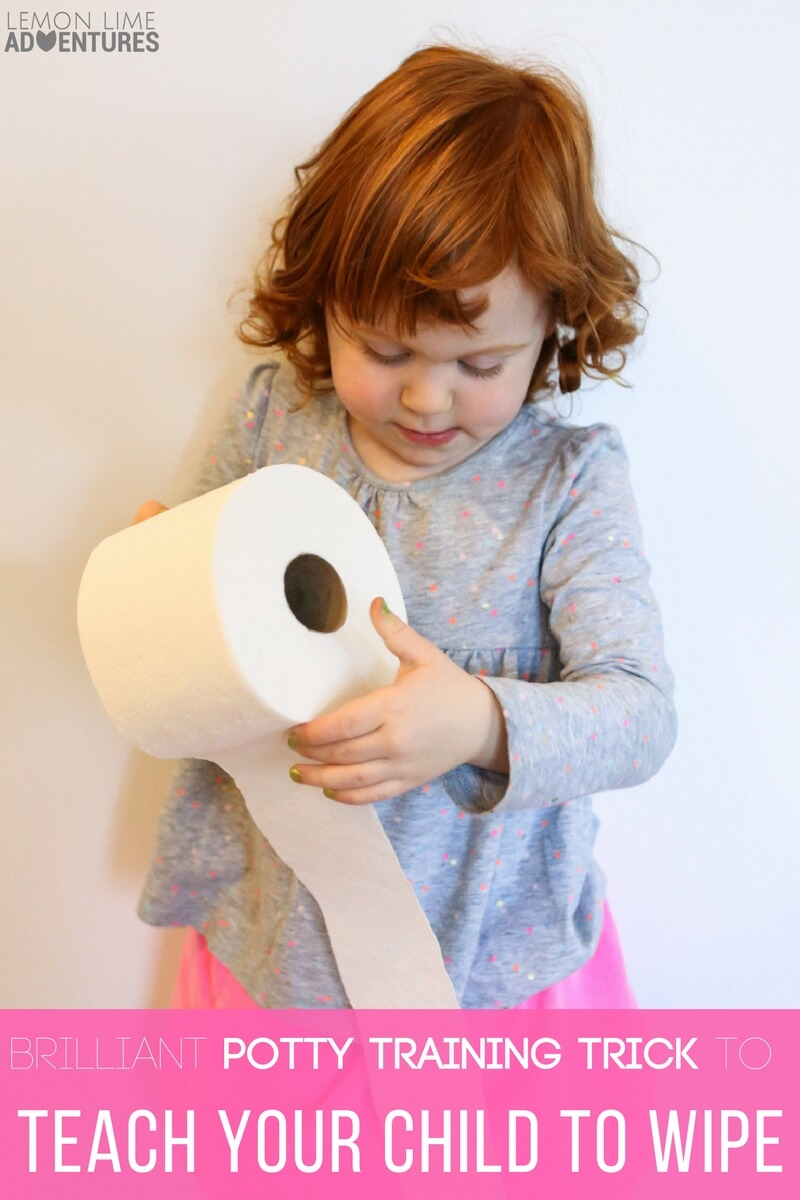 Brilliantly Creative Potty Training Trick to Teach Your Child to Wipe