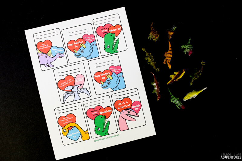 Dinosaur Non-Candy Printable Valentines!
