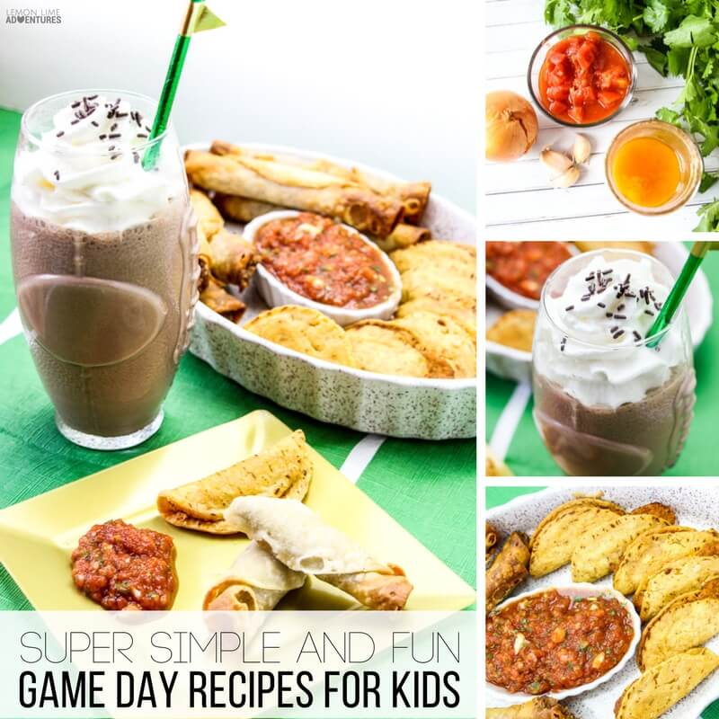 super simple game day recipes for kids