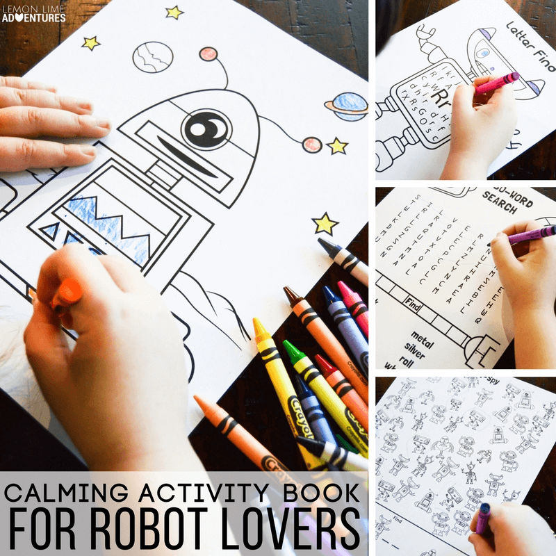 Calming Activity Book for Robot Lovers