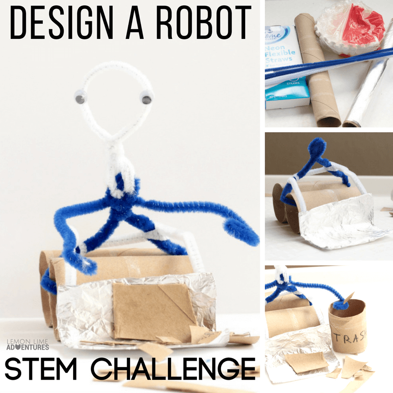 Little robot lovers will love the robot design challenge where they get to design a robot that can solve real-world problems!