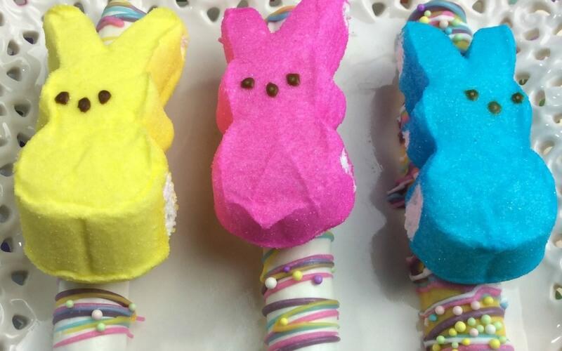 Super Tasty Peeps Pretzel Easter Snacks
